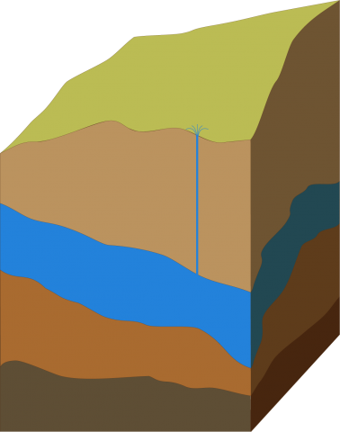 Illustration of groundwater